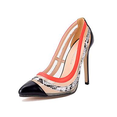 レディース 靴 レザーレット 夏 ヒール スティレットヒール ポインテッドトゥ 用途 ドレスシューズ ブラック