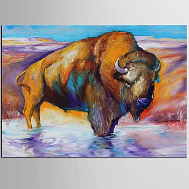 Pintura a Óleo Pintados à mão - Arte Pop Clássico Modern Tela de pintura