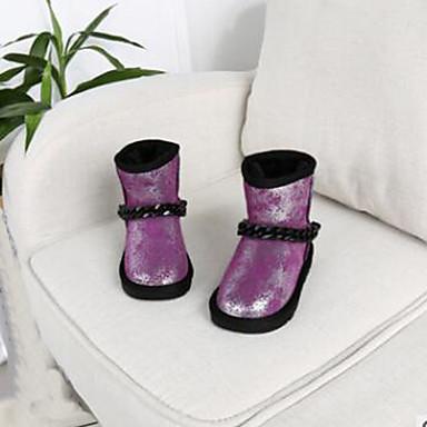 Jente-Semsket lær-Flat hæl-Komfort-Støvler-Fritid-