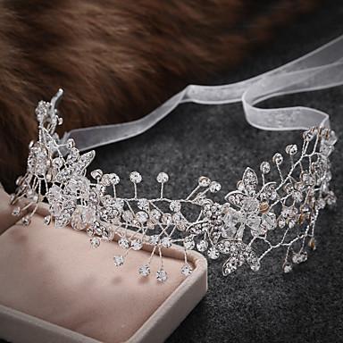 成人用 合金 人造真珠 かぶと-結婚式 パーティー カジュアル ティアラ ヘッドバンド ヘッドチェーン ヘアメイクツール 1個