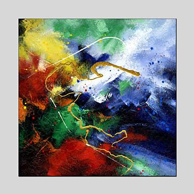 Hang malte oljemaleri Håndmalte - Landskap Klassisk / Moderne Lerret / Stretched Canvas