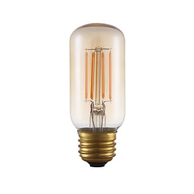E26 フィラメントタイプLED電球 T 4 COB 300 lm アンバー 2200 K 調光可能 装飾用 AC 110-130 V