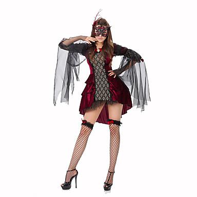 Kuningatar Satuteema Naiset Halloween Joulu Karnevaali Uusi vuosi Oktoberfest Lasten päivä Festivaali/loma Halloween-asut Yhtenäinen Pitsi
