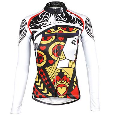ILPALADINO Pyöräily jersey Naisten Pitkähihainen Pyörä Jersey Nopea kuivuminen Ultraviolettisäteilyn kestävä Hengittävä Heijastinraidat