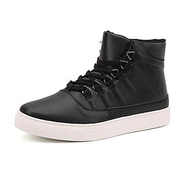 メンズ 靴 レザーレット 春 夏 秋 冬 コンフォートシューズ ファッションブーツ ブーツ 用途 カジュアル ブラック グレー レッド
