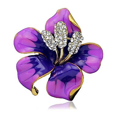 levne Módní brože-Dámské Brože dámy stylové Brož Šperky Černá Fialová Červená Pro Svatební Párty Na den Denní Ležérní