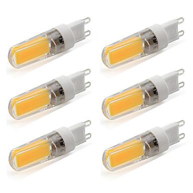 4W G9 LED Bi-Pin lamput T 1 COB 380 lm Lämmin valkoinen / Kylmä valkoinen AC 220-240 V 6 kpl
