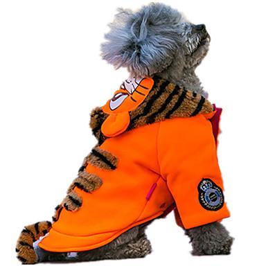 犬 セーター 犬用ウェア キュート カジュアル/普段着 保温 動物 オレンジ グリーン