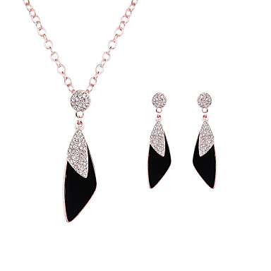 Mulheres Cristal Conjunto de jóias - Formato de Folha Luxo, Fashion Incluir Ouro Rose Para Casamento / Festa / Diário