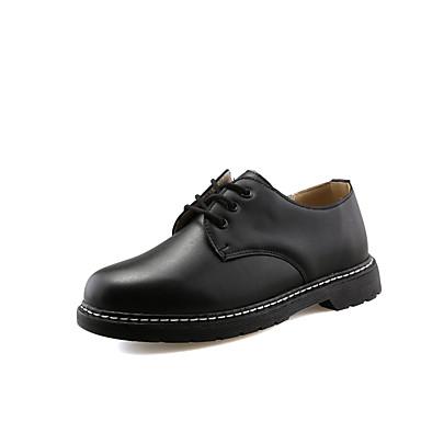 Miehet kengät Tekonahka Kevät Syksy Talvi Comfort Muotisaappaat Oxford-kengät Käyttötarkoitus Urheilullinen Kausaliteetti Musta