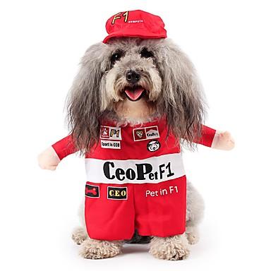 Gato Cachorro Fantasias Roupas para Cães Personagem Vermelho Algodão Terylene Ocasiões Especiais Para animais de estimação Homens Mulheres