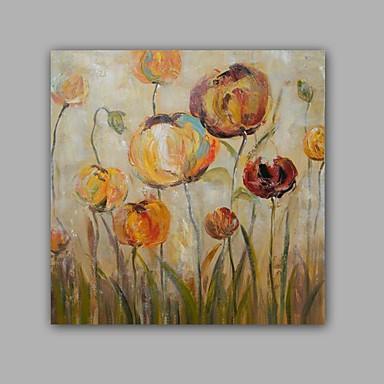 käsin maalattu abstrakti / kukka / kasvitieteellinen moderni / klassinen yksi paneeli kangas öljymaalaus