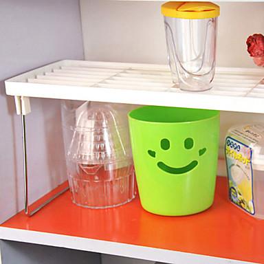 Organización de cocina Repisas y Soportes Plástico Metal Almacenamiento 1 juego
