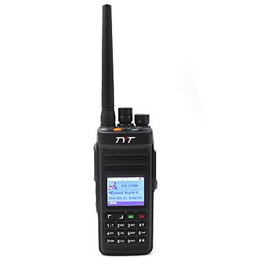 billige Walkie-talkies-TYT MD-398 UHF Håndholdt / Dobbelt bånd / Digital Nød Alarm / Programmeringskabel / Programmerbar med datasoftware 5-10 km 5-10 km 1000 2800mAh 10W Walkie Talkie Toveis radio