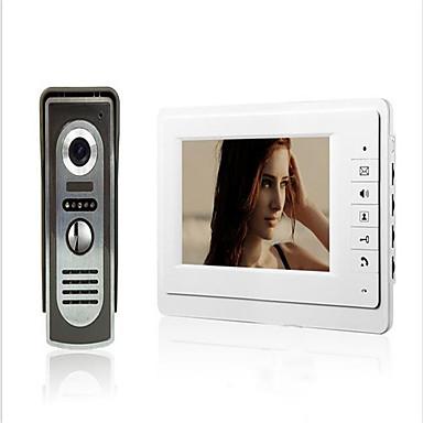 800 x 480 92° CMOS Doorbell System Tilkoblet Fotografert / Multifamily video ringeklokke