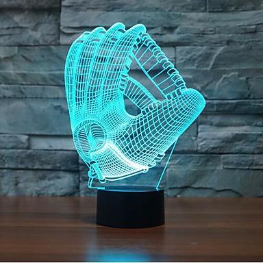 1 pieza Luz nocturna 3D Con Sensor / Regulable / Impermeable LED / Moderno / Contemporáneo