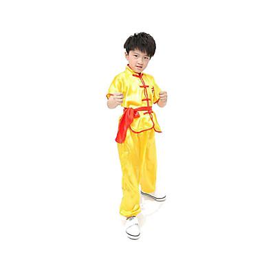 Cosplay Kostumer Festival/høytid Halloween-kostymer Hvit Blå Gul Ensfarget Topp Bukser Belte Barn