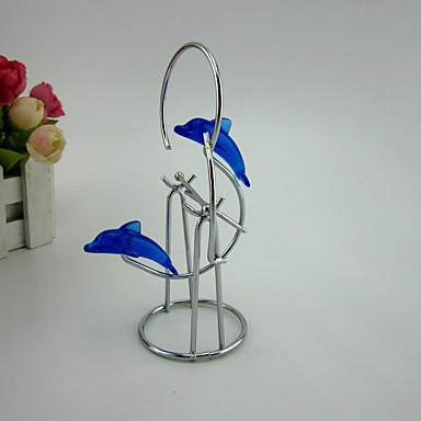 1pc Glass / Jern Fritid / Land / Tradisjonell / Kontor / Bedrift / Retro Rød / Moderne / NutidigforHjemmedekorasjon, Dekorative