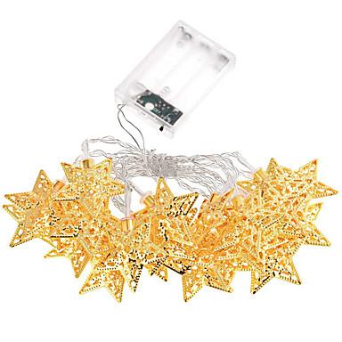loma valo tähdet johti nauhat 20 lamppu pallot / setti johti string hääjuhlissa värivalot joulukoristeita