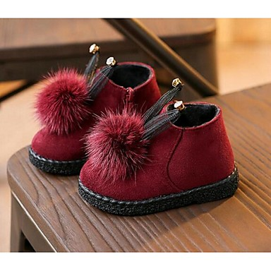 BootsitTyttöjen-Tekonahka-Musta Punainen-Rento-Comfort