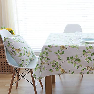 Neliö Kukka Patterned Table Cloths , Cotton Blend materiaali Taulukko Dceoration Hotel ruokapöytä