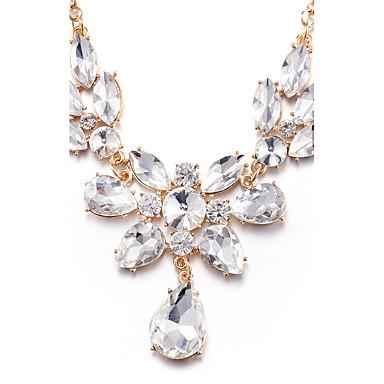 Dame Personalisert Unikt design Mote Euro-Amerikansk Anheng Halskjede Uttalelse Halskjeder Syntetisk Diamant Legering Anheng Halskjede