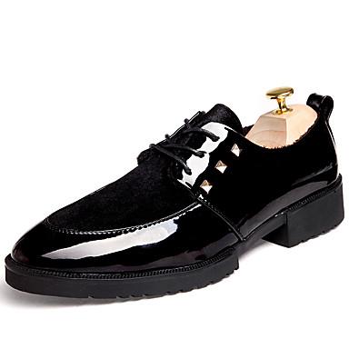 Oxford-kengät-Tasapohja-Miesten-PU-Musta-Rento-Comfort