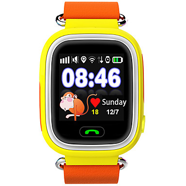 Reloj Deportivo / Reloj de Moda / Reloj elegante Monitor de Pulso Cardiaco / Pantalla Táctil / Despertador Piel Banda Lujo / Casual Azul / Naranja / Rosa / Resistente al Agua / Podómetros