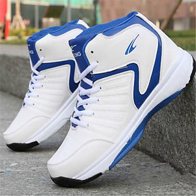 Ανδρικά Παπούτσια Δερματίνη Άνοιξη Ανατομικό Αθλητικά Παπούτσια Μπάσκετ για Αθλητικό Μαύρο Κόκκινο Μπλε