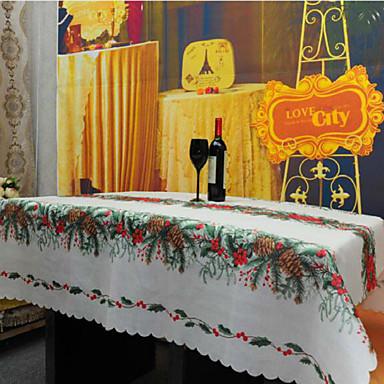 方形 パターン柄 / 刺繍 テーブルクロス , リネン/コットン混 材料 クリスマスの装飾の好意 1