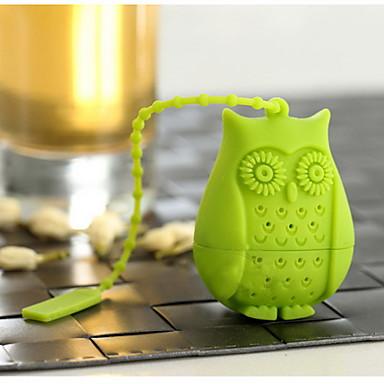 búho de silicona de dibujos animados infusor de té de aves filtro de hojas sueltas herbal spicefilter herramientas de té