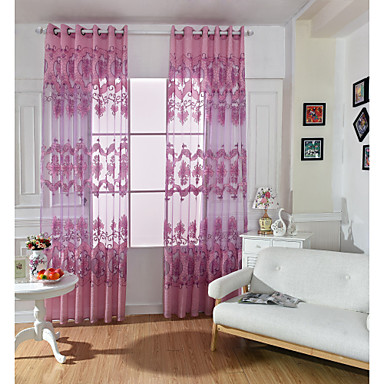 Sheer Curtains Shades Um Painel 39WX 98