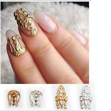 4 pcs Kit de uñas Joyas de Uñas arte de uñas Manicura pedicura Diario Glitters / Moda / Joyería de uñas
