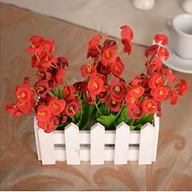 1 1 Branch Plastikk / Others Planter / Others / Campanula Bordblomst Kunstige blomster