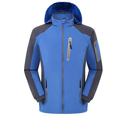 男性用 ハイキング ジャケット アウトドア 防水 防風 抗虫 高通気性 ウインドブレーカー ソフトシェルジャケット トップス キャンピング&ハイキング ダウンヒル チームスポーツ