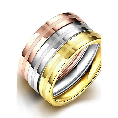 Dame Ring - Rustfritt Stål Klassisk, Europeisk, Enkel Stil 6 / 7 / 8 Til Bryllup / Fest / Daglig