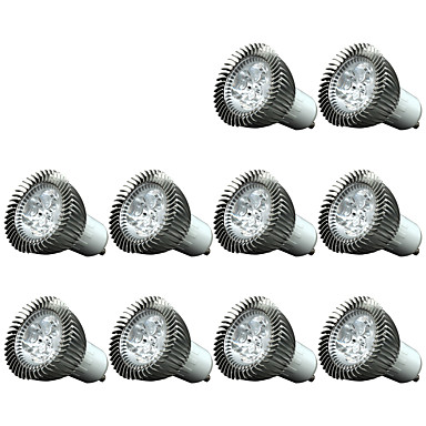 3W GU10 LED-spotpærer 3 200-250 lm Kjølig hvit Dimbar / Dekorativ AC220 V 10 stk.