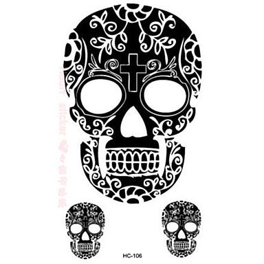 Caricaturas / Pegatina tatuaje manos / brazo / muñeca Los tatuajes temporales 1 pcs Series de Animal Negro Artes de cuerpo