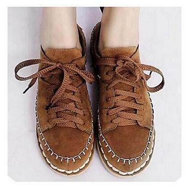 e4c936daa5 2016 új cipő őszi cipő vad diák varrás cipő divat csipke kerek lapos matt  bőr szabadidő