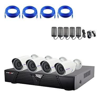 1080p / kızılötesi / su geçirmez ve 4 kanallı H.264 nvr açılan kitleri ile strongshine®ip kamera