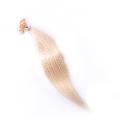 EVET Malaysian Hair Silky Straight 6A Grade U Tip Extensions 100g/lot Malaysian Real Nail Human Hair wholesale