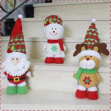 1個のランダムなホット販売クリスマス装飾サンタクロース雪だるまクリスマスの置物