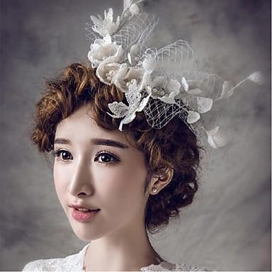 Renda Rede Headbands Pentes de cabelo Flores Pino de cabelo Pele de cabelo Ferramenta de cabelo Véus de Birdcage 1 Casamento Ocasião