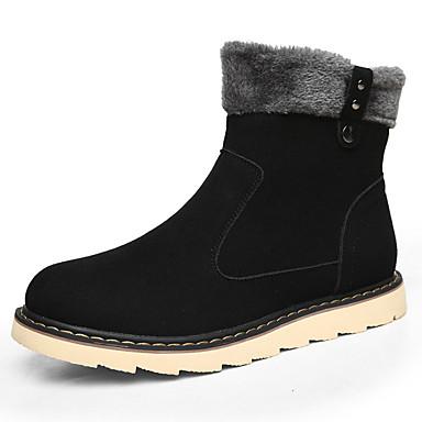 Bootsit-Tasapohja-Miesten-PU-Musta Ruskea Keltainen-Rento-Comfort