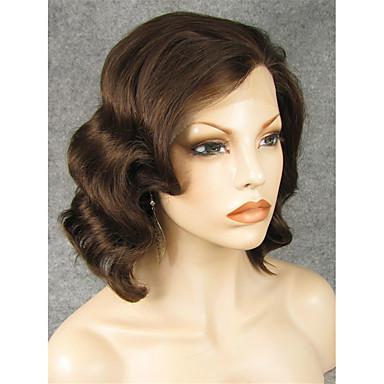 Syntetisk blonder foran parykker Bølget Naturlig hårlinje Dame Blonde Forside Naturlig parykk Syntetisk hår