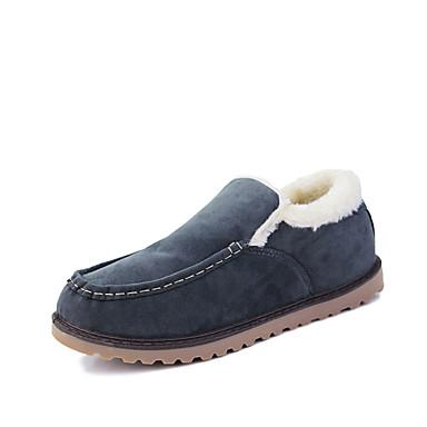 Miehet kengät Kangas Kevät Syksy Talvi Comfort Mokkasiinit Käyttötarkoitus Kausaliteetti Musta Sininen