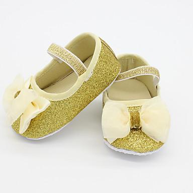 女の子 靴 グリッター 秋 コンフォートシューズ フラット スパークリンググリッター のために 子供用 / 赤ちゃん ゴールド / シルバー