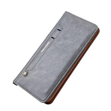 Capinha Para Apple iPhone X iPhone 8 iPhone 7 Plus iPhone 7 Porta-Cartão Carteira Com Suporte Capa Proteção Completa Côr Sólida Rígida
