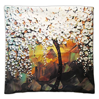 1 PC Terciopelo Funda de almohada, Estampados Detalle Decorativo