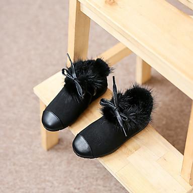 Bootsit-Tasapohja-Tyttöjen-Fleece-Musta Keltainen-Rento-Comfort